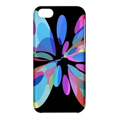 Blue Abstract Flower Apple Iphone 5c Hardshell Case by Valentinaart
