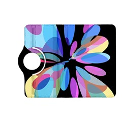 Blue Abstract Flower Kindle Fire Hd (2013) Flip 360 Case by Valentinaart