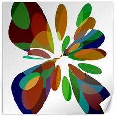 Colorful Abstract Flower Canvas 20  X 20   by Valentinaart