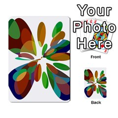 Colorful Abstract Flower Multi Purpose Cards (rectangle)