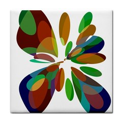 Colorful Abstract Flower Face Towel by Valentinaart