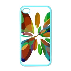 Colorful Abstract Flower Apple Iphone 4 Case (color) by Valentinaart