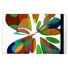 Colorful Abstract Flower Apple Ipad 3/4 Flip Case by Valentinaart