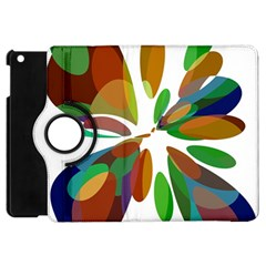 Colorful Abstract Flower Apple Ipad Mini Flip 360 Case by Valentinaart