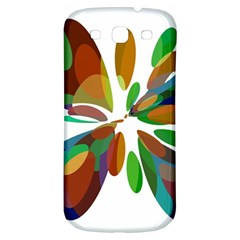 Colorful Abstract Flower Samsung Galaxy S3 S Iii Classic Hardshell Back Case by Valentinaart