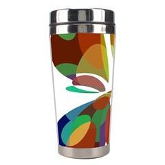 Colorful Abstract Flower Stainless Steel Travel Tumblers by Valentinaart