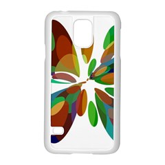 Colorful Abstract Flower Samsung Galaxy S5 Case (white) by Valentinaart