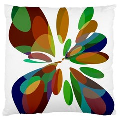 Colorful Abstract Flower Large Flano Cushion Case (one Side) by Valentinaart