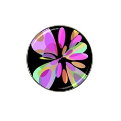 Pink Abstract Flower Hat Clip Ball Marker (4 Pack) by Valentinaart