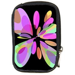 Pink Abstract Flower Compact Camera Cases by Valentinaart
