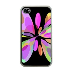 Pink Abstract Flower Apple Iphone 4 Case (clear) by Valentinaart