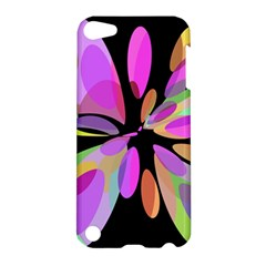 Pink Abstract Flower Apple Ipod Touch 5 Hardshell Case by Valentinaart