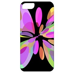 Pink Abstract Flower Apple Iphone 5 Classic Hardshell Case by Valentinaart