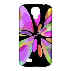 Pink Abstract Flower Samsung Galaxy S4 Classic Hardshell Case (pc+silicone) by Valentinaart