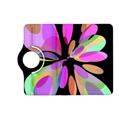 Pink Abstract Flower Kindle Fire Hd (2013) Flip 360 Case by Valentinaart