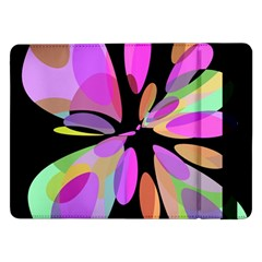 Pink Abstract Flower Samsung Galaxy Tab Pro 12 2  Flip Case by Valentinaart