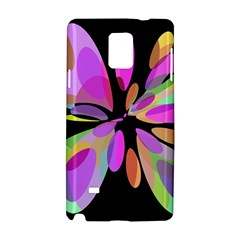 Pink Abstract Flower Samsung Galaxy Note 4 Hardshell Case by Valentinaart