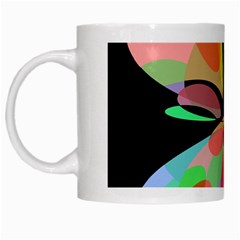 Colorful Abstract Flower White Mugs by Valentinaart