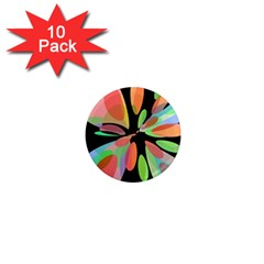 Colorful Abstract Flower 1  Mini Magnet (10 Pack)  by Valentinaart