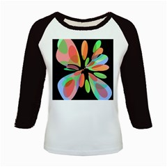 Colorful Abstract Flower Kids Baseball Jerseys by Valentinaart