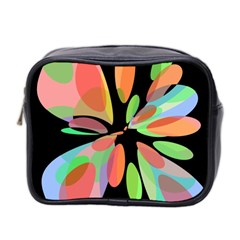 Colorful Abstract Flower Mini Toiletries Bag 2 Side by Valentinaart