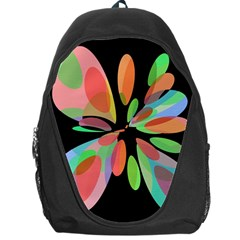 Colorful Abstract Flower Backpack Bag by Valentinaart
