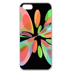 Colorful Abstract Flower Apple Seamless Iphone 5 Case (clear) by Valentinaart