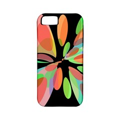 Colorful Abstract Flower Apple Iphone 5 Classic Hardshell Case (pc+silicone) by Valentinaart