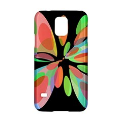 Colorful Abstract Flower Samsung Galaxy S5 Hardshell Case  by Valentinaart