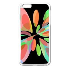 Colorful Abstract Flower Apple Iphone 6 Plus/6s Plus Enamel White Case by Valentinaart
