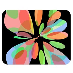 Colorful Abstract Flower Double Sided Flano Blanket (medium)  by Valentinaart