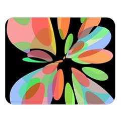 Colorful Abstract Flower Double Sided Flano Blanket (large)  by Valentinaart