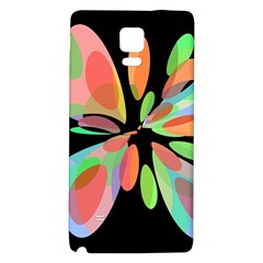 Colorful Abstract Flower Galaxy Note 4 Back Case by Valentinaart