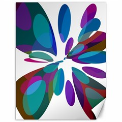 Blue Abstract Flower Canvas 12  X 16   by Valentinaart