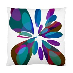 Blue Abstract Flower Standard Cushion Case (one Side) by Valentinaart