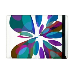 Blue Abstract Flower Apple Ipad Mini Flip Case by Valentinaart