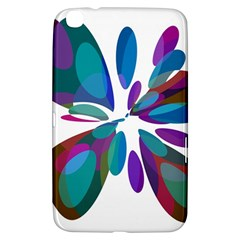 Blue Abstract Flower Samsung Galaxy Tab 3 (8 ) T3100 Hardshell Case  by Valentinaart