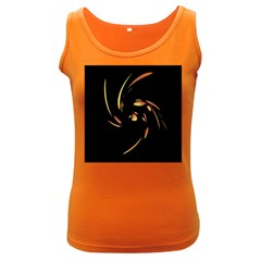 Orange Twist Women s Dark Tank Top by Valentinaart