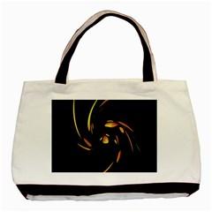 Orange Twist Basic Tote Bag (two Sides) by Valentinaart