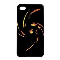 Orange Twist Apple Iphone 4/4s Seamless Case (black) by Valentinaart