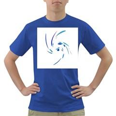 Blue Twist Dark T Shirt by Valentinaart