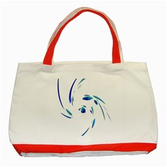 Blue Twist Classic Tote Bag (red) by Valentinaart