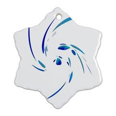 Blue Twist Snowflake Ornament (2 Side) by Valentinaart