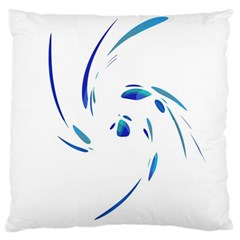 Blue Twist Large Cushion Case (one Side) by Valentinaart