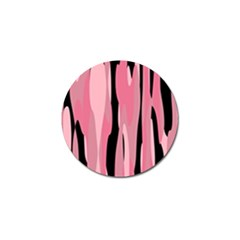 Black And Pink Camo Abstract Golf Ball Marker by TRENDYcouture