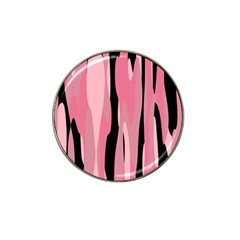 Black And Pink Camo Abstract Hat Clip Ball Marker by TRENDYcouture