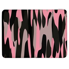 Pink And Black Camouflage Abstract Samsung Galaxy Tab 7  P1000 Flip Case by TRENDYcouture