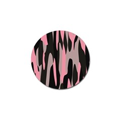 Pink And Black Camouflage Abstract 2 Golf Ball Marker by TRENDYcouture