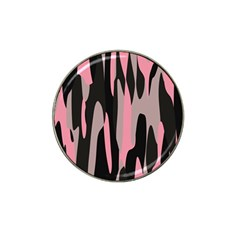 Pink And Black Camouflage Abstract 2 Hat Clip Ball Marker by TRENDYcouture