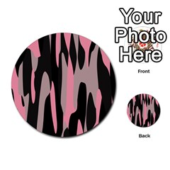 pink and black camouflage abstract 2 Multi-purpose Cards (Round)  by TRENDYcouture